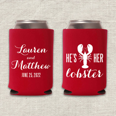 He's Her Lobster Can Cooler
