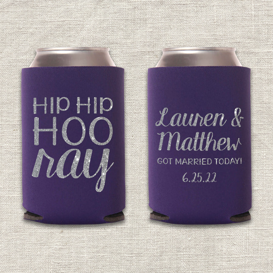 Hip Hip Hooray Wedding Koozie