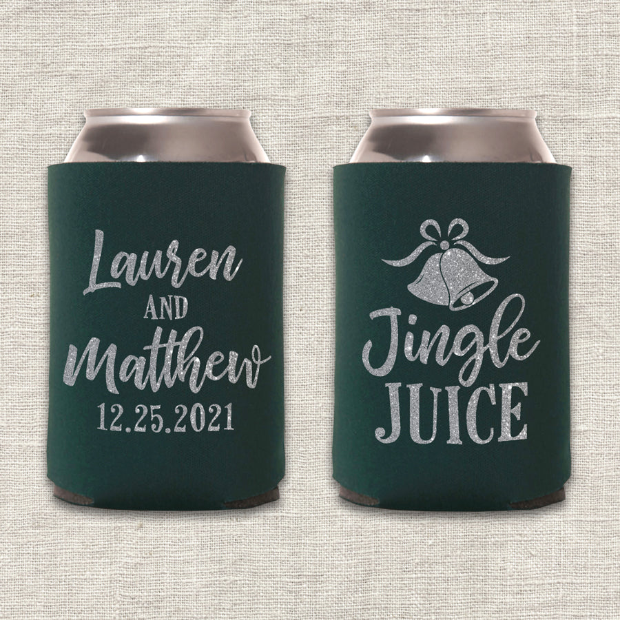 Jingle Juice Christmas Wedding Koozie