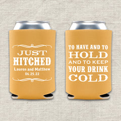 To Have and To Hold and To Keep Your Drink Cold Wedding Koozie