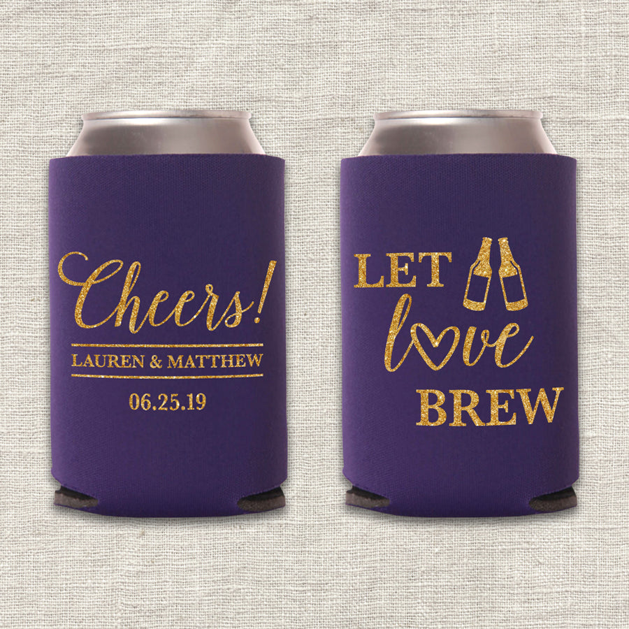 Let Love Brew Wedding Koozie