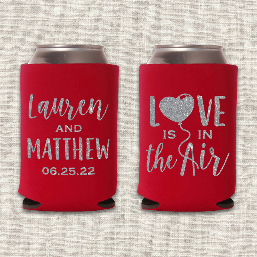 Love is in the Air Wedding Koozie