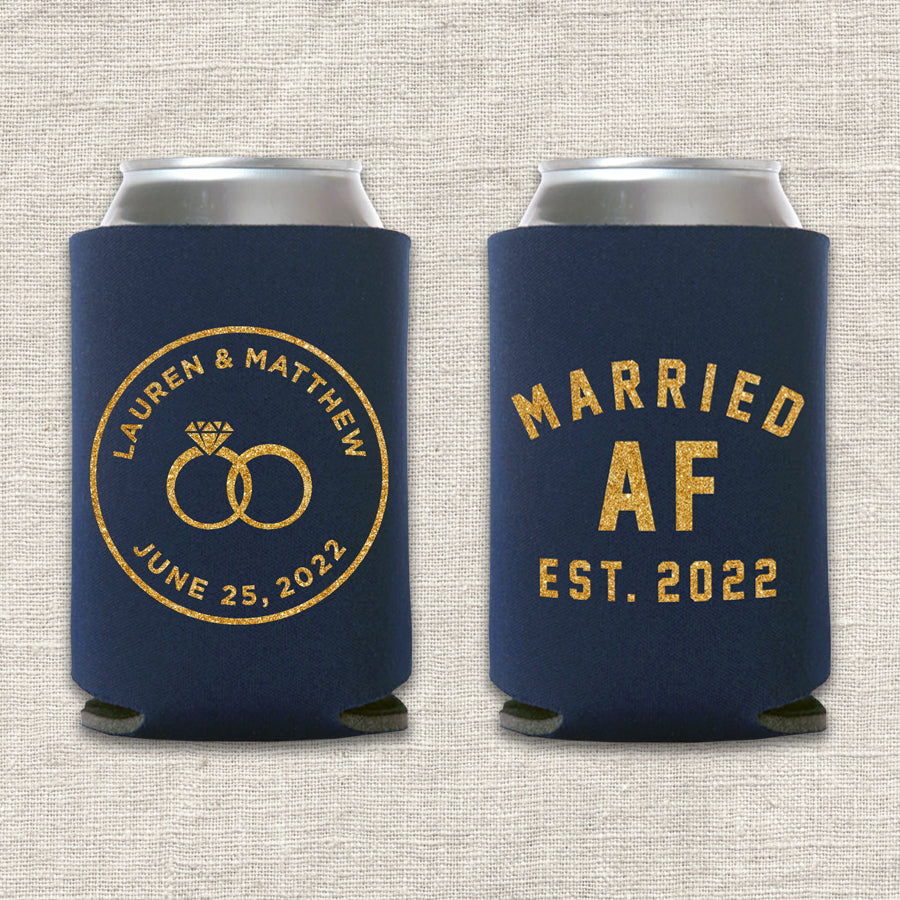 Married AF Wedding Koozie