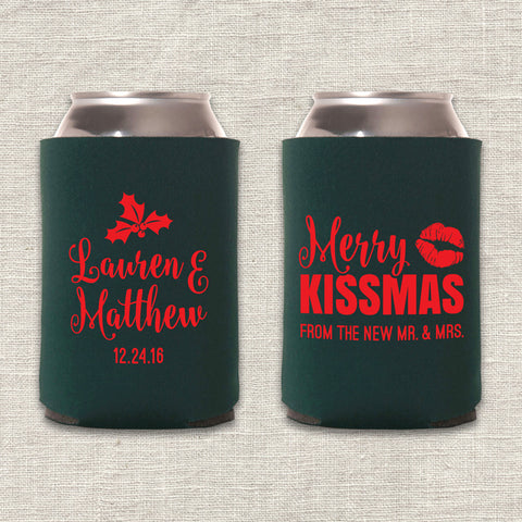 Merry Kissmas Can Cooler
