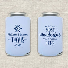 It's the Most Wonderful Time for a Beer Winter Wedding Koozie