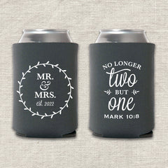 No Longer Two But One Wedding Koozie