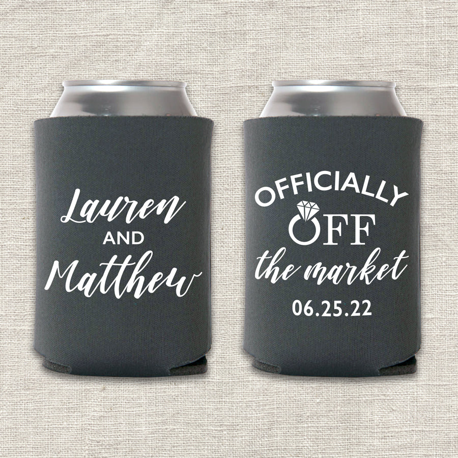 Officially Off the Market Wedding Koozie