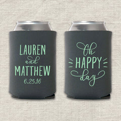 Oh Happy Day Wedding Koozie