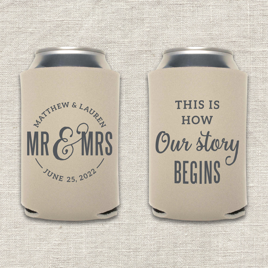 This Is How Our Story Begins Wedding Koozie