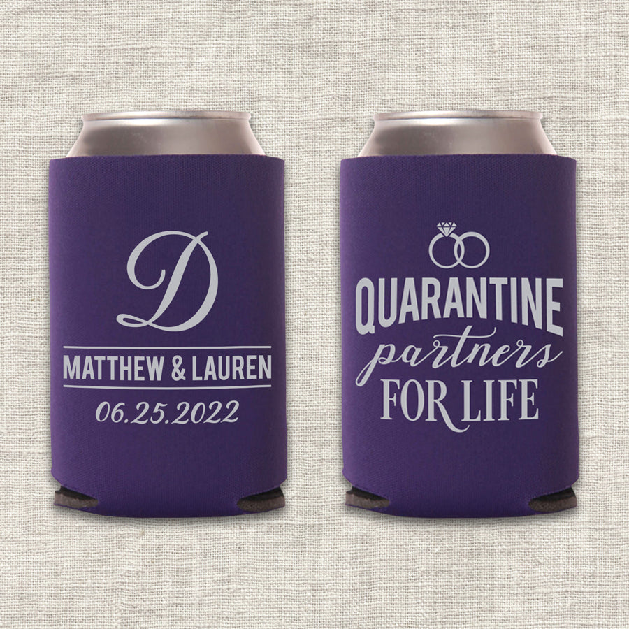 Quarantine Partners for Life Wedding Koozie