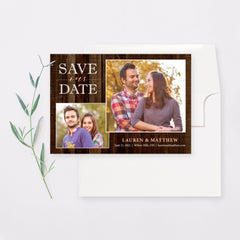 Rustic Charm Save the Date Card with Envelope