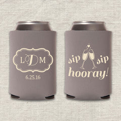 Sip Sip Hooray Wedding Koozies