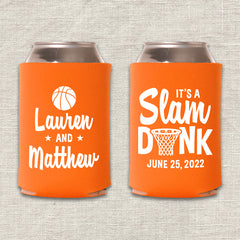 It's A Slam Dunk Basketball Wedding Koozie