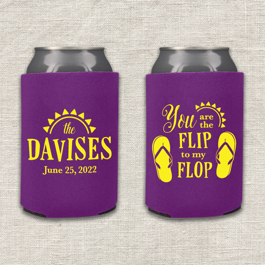 You are the Flip to my Flop Wedding Koozie