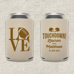 Touchdown Football Wedding Koozie