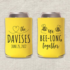 We Bee-Long Together Wedding Koozie