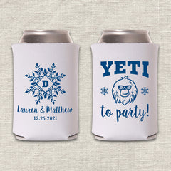 Yeti To Party Winter Wedding Koozie