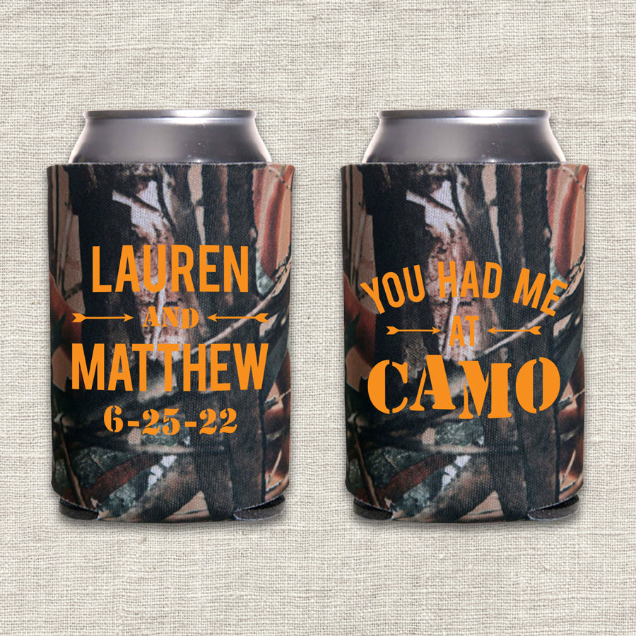 You Had Me At Camo Deer Hunting Wedding Koozie