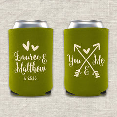 You and Me Wedding Koozie