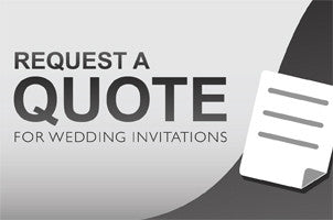 Wedding Invitation Quote Request Form