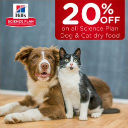20% off on all Science Plan Dog & Cat dry food