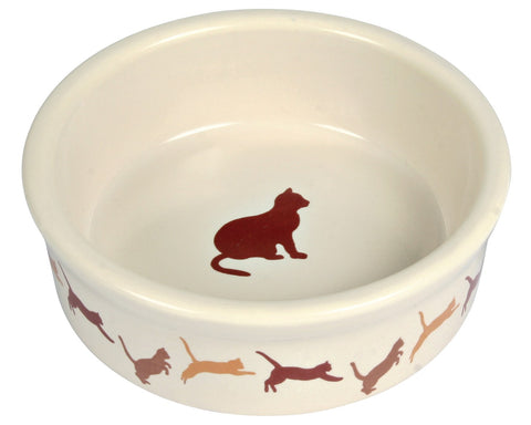 Ceramic cat Bowl with motif