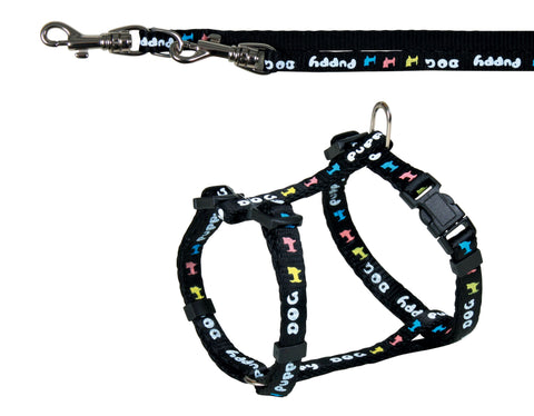 Puppy Harness: 23-34cm/8mm with Leash: 2.00m/8mm