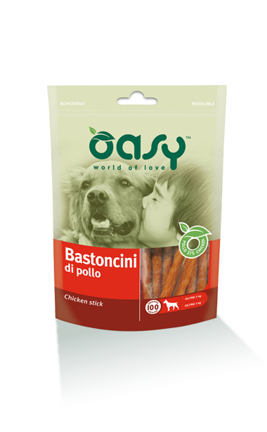 Oasy snacks Chicken Sticks (Bastoncini di pollo), 100g