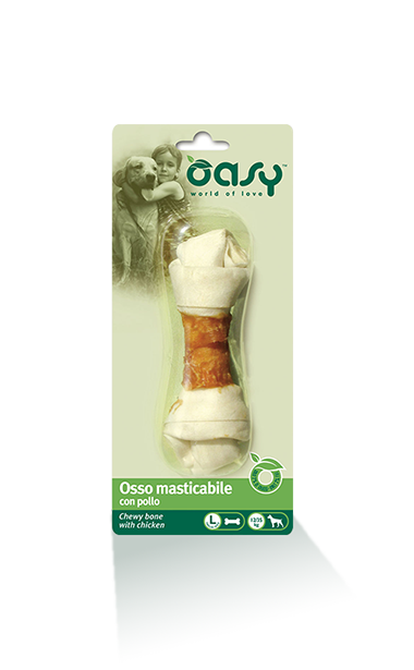 Oasy Snack Chewing Bone with Chicken, Large