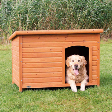Natura Flat roof kennel, Natural