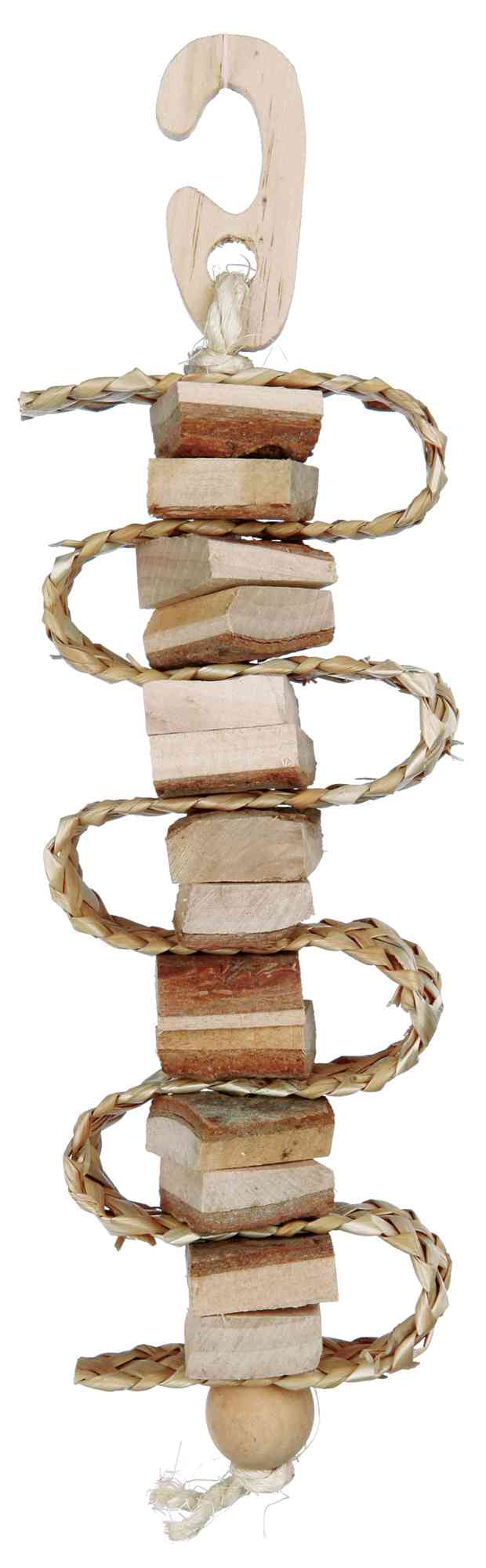 Natural Living Gnawing Wood with Straw Ribbon