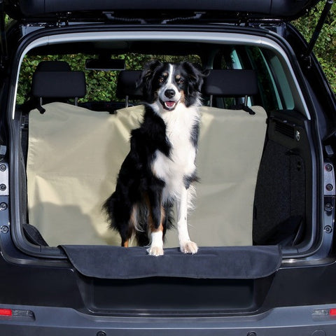 Car boot cover, 1.80 x 1.30 m, beige/black