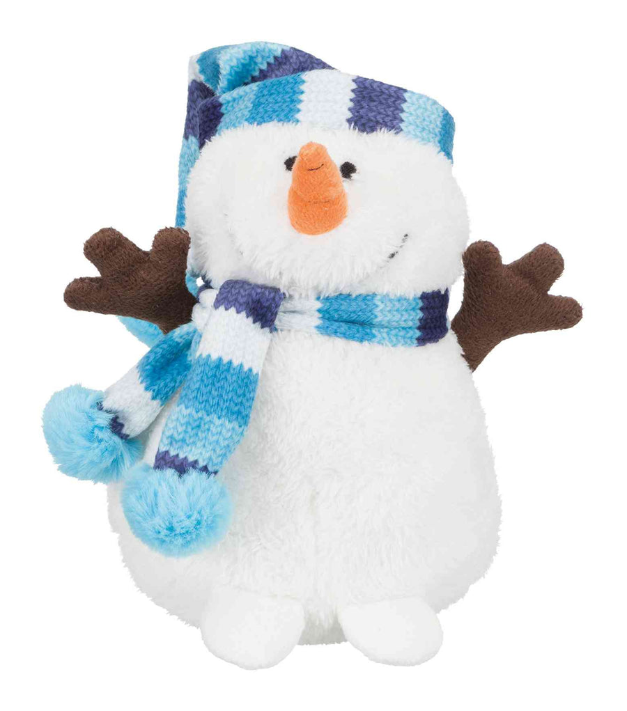 Snowman with bobble cap, 17cm