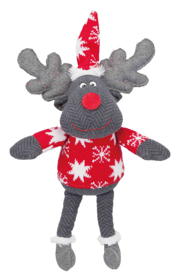 Xmas Reindeer, Fabric, 42cm, Brown/Grey