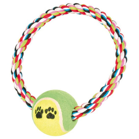 Denta Fun Rope Ring with Tennis Ball
