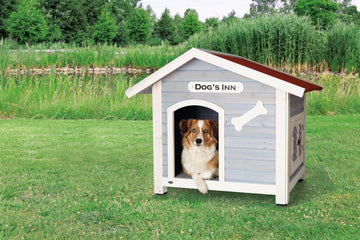 Natura dog kennel with saddle roof, L: 107  x  93  x  90 cm