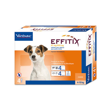 Effitix Spot on, Small dogs 4 - 10 Kgs