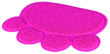 Cat litter tray mat, paw, PVC