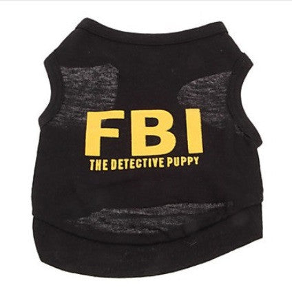 "Dog Tshirt ""FBI - The Detective Pup"""