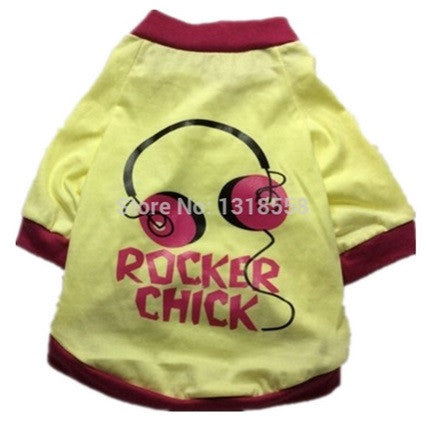 "Dog Tshirt ""Rocker Chick"""