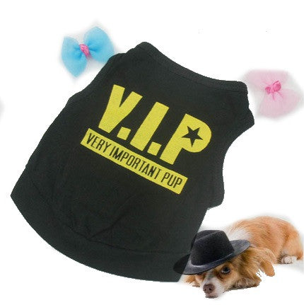 "Dog Tshirt ""VIP Very Important Pup"" Black"