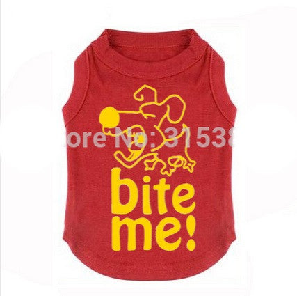 "Dog Tshirt ""Bite Me"" Red"