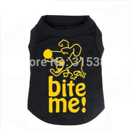"Dog Tshirt ""Bite Me"" Black"