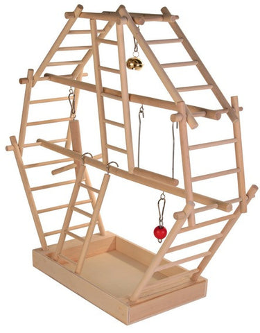 Wooden ladder playground