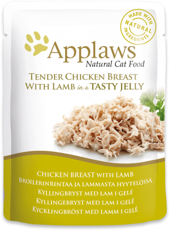 Applaws Pouches Tender Chicken Breast with Lamb in tasty Jelly