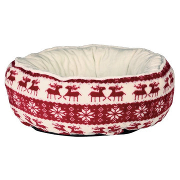 Santa Bed, 50cm, Red/Cream
