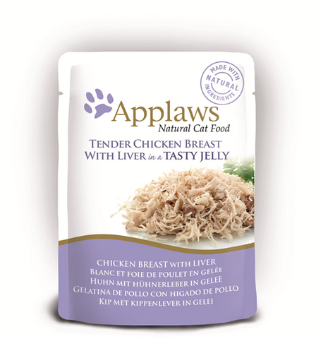 Applaws Pouches Tender Chicken Breast with Liver in tasty Jelly