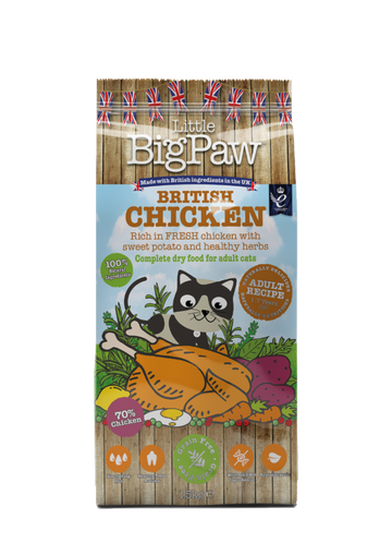 Little Big Paw British Chicken Complete Dry Food for Adult Cats