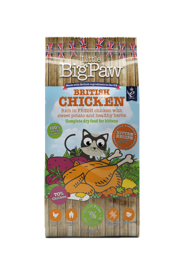Little Big Paw British Chicken Complete Dry Food for Kittens