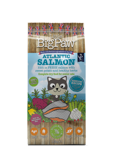 Little Big Paw Atlantic Salmon Complete Dry Food for Senior Cats